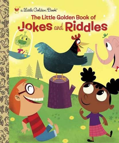 The Little Golden Book of Jokes and Riddles by Peggy Brown, Illustrated by David Sheldon